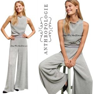 Anthropologie NWT {Ett Twa} metallic wide leg pant